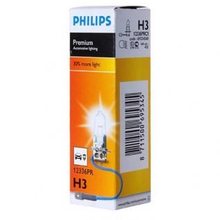 Купить галоген лампу H3 Philips Premium (12336PR) +30%