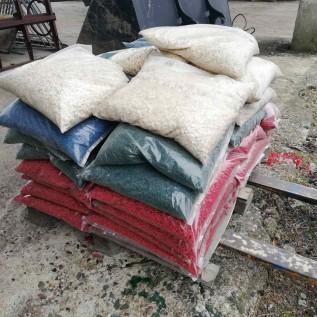 Гранитная крошка, мраморный щебень, щебень мраморный декоративный купить в Минске.